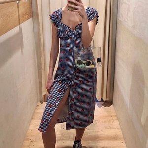 UO Strawberry Gingham Dress 🍓